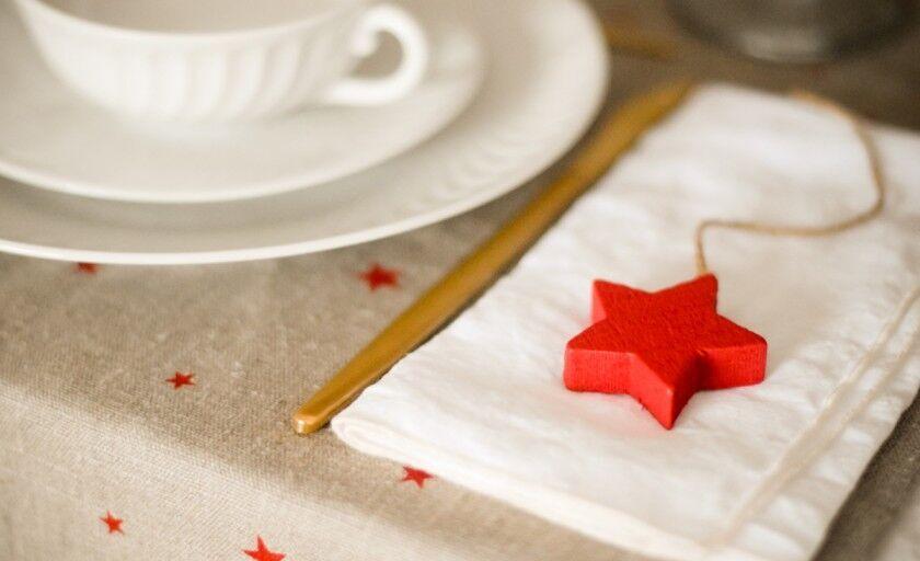 a minha mesa de natal